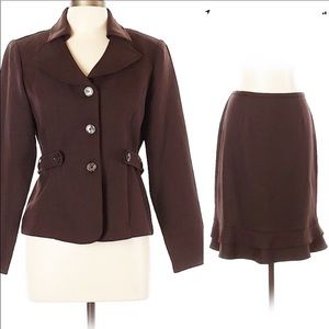 Perceptions Dresses - Perceptions Suit Skirt Timeless Brown 2 pc 12